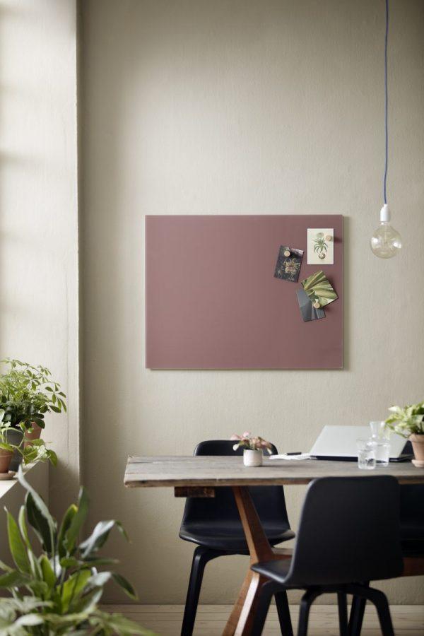 CHAT BOARD Classic magnetische Glastafel in der Farbe Plum