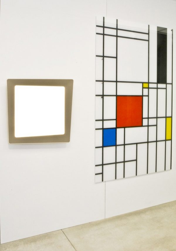 CHAT BOARD Classic Print with Mondrian style design at Turner Gallery in Margate, Kent with K+N