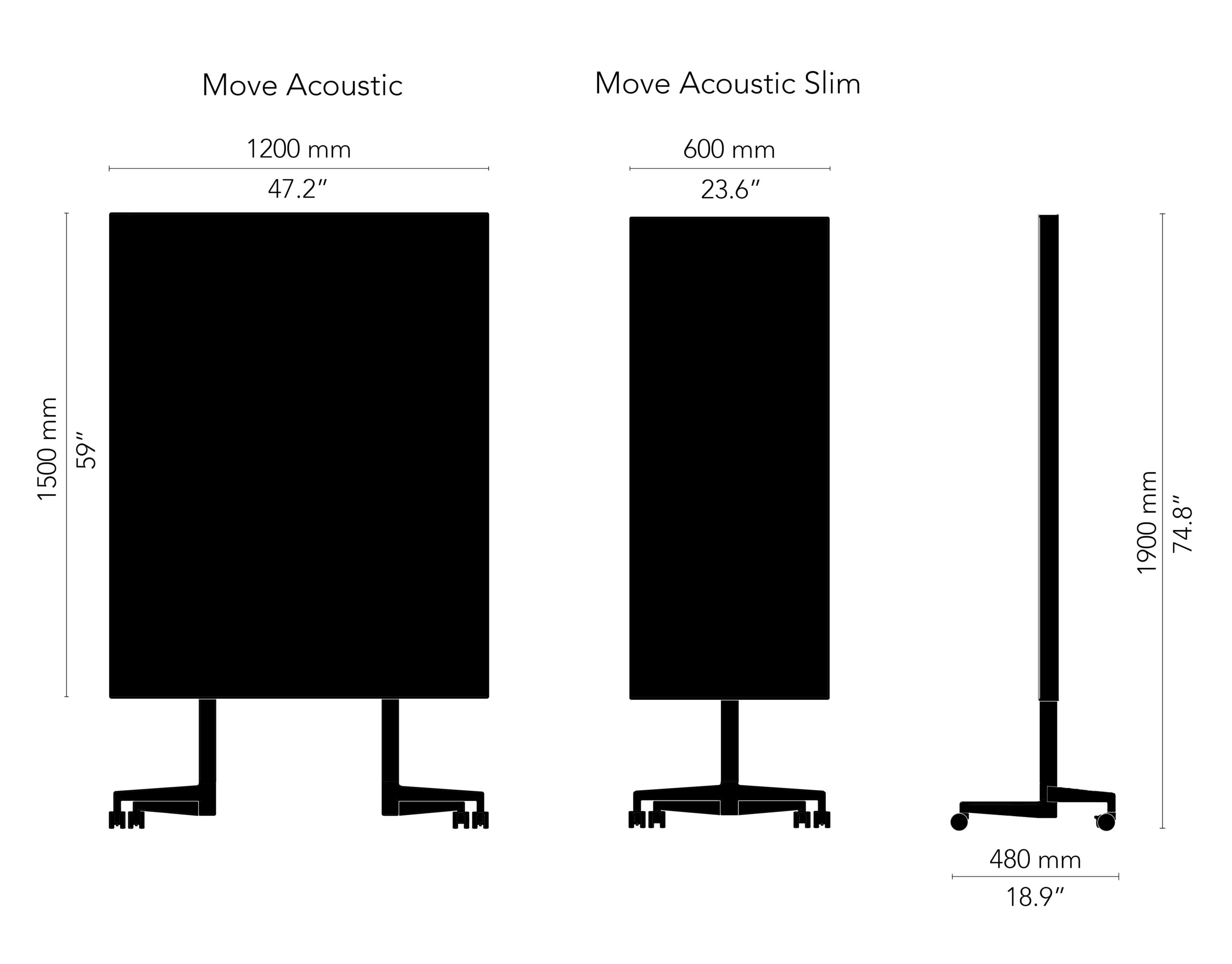 CHAT BOARD Move Acoustic drawing, black