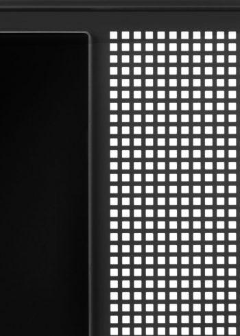 CHAT BOARD SQUAD Teacher in Black/Black glass/steel frame detail