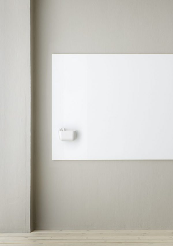 CHAT BOARD Storage Unit Magnetic in White on Elements board in Pure White