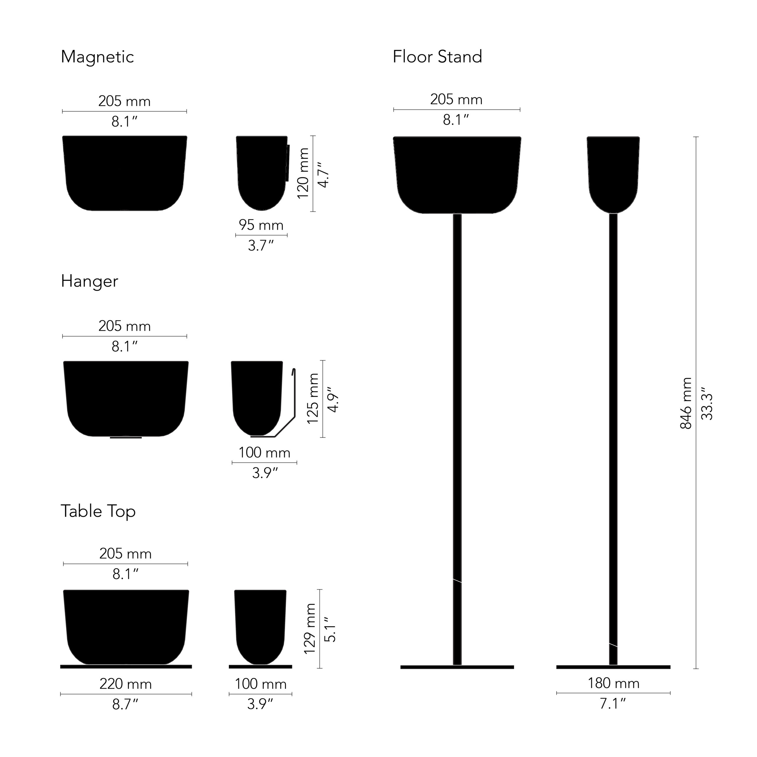 CHAT BOARD Storage Unit drawing, black