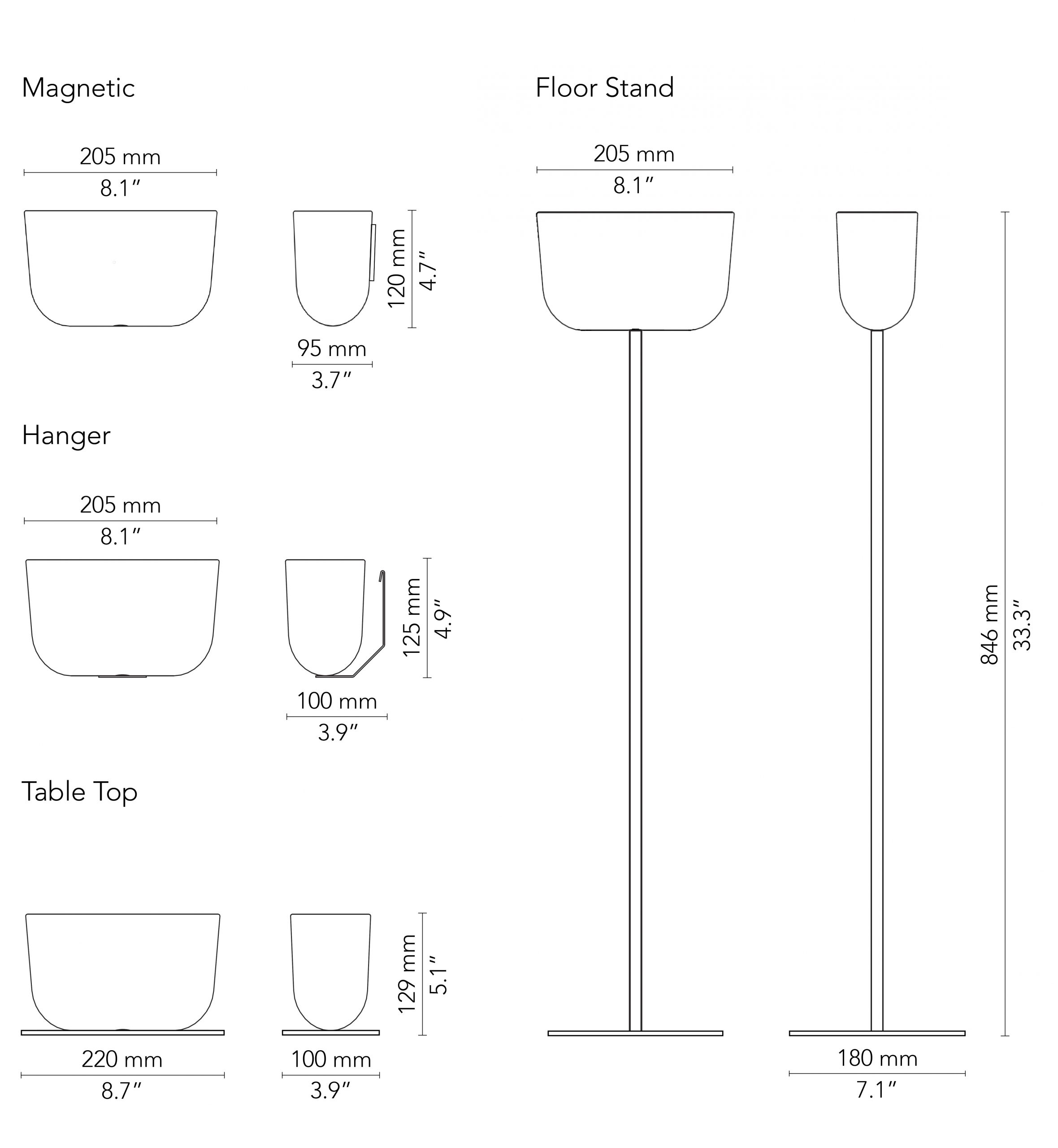 CHAT BOARD Storage Unit drawings w. mm measurements
