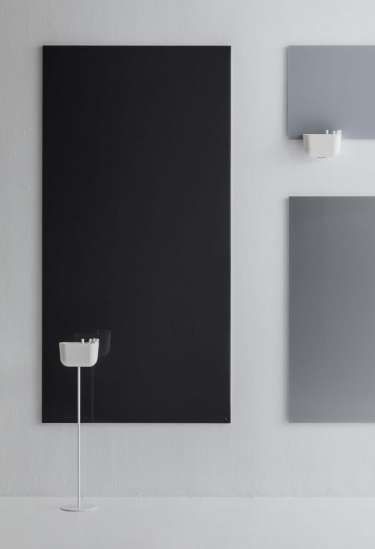 CHAT BOARD Storage Units Floor Stand and Hanger in White on background of Classics in grey and black scale