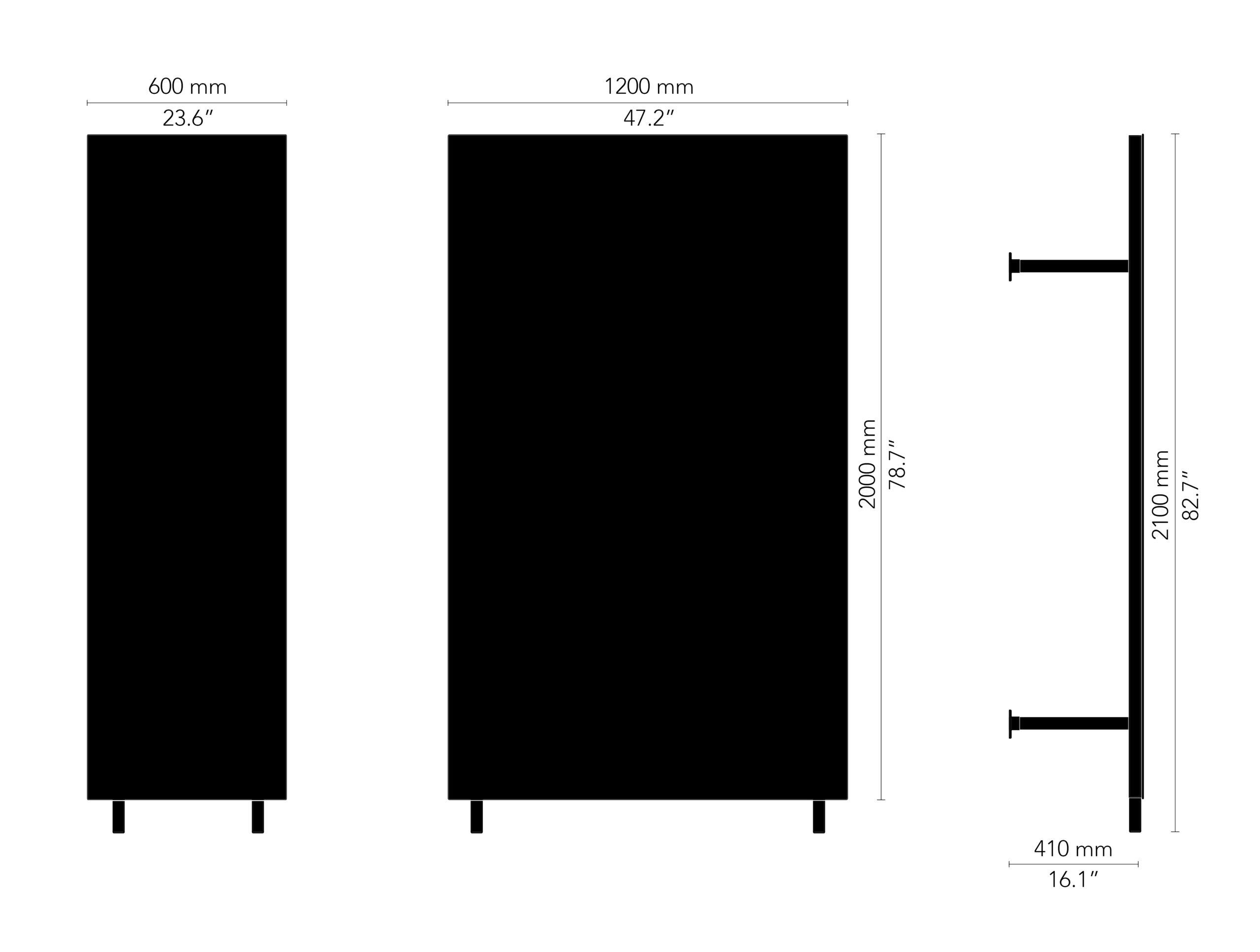 CHATBOARD Wardrobe drawing, black