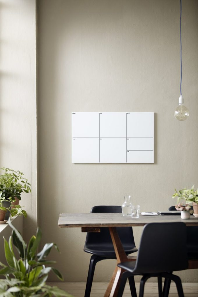 CHAT BOARD Week Planner Pure White large grid