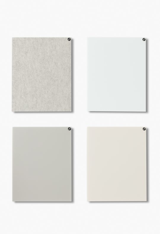 CHAT BOARD BuzziFelt in Off White with Classic boards in Pure White, Sand and Nude
