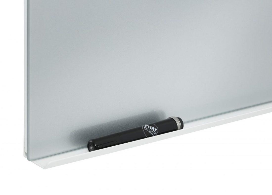 CHAT BOARD Pen Tray White Aluminium on Silver Classic