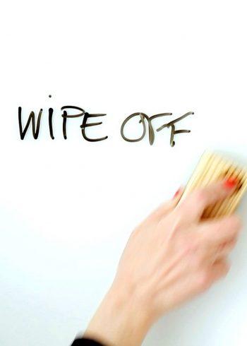 wiping off board
