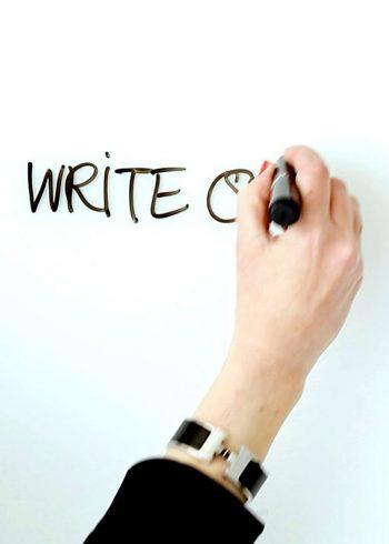 Writing on board