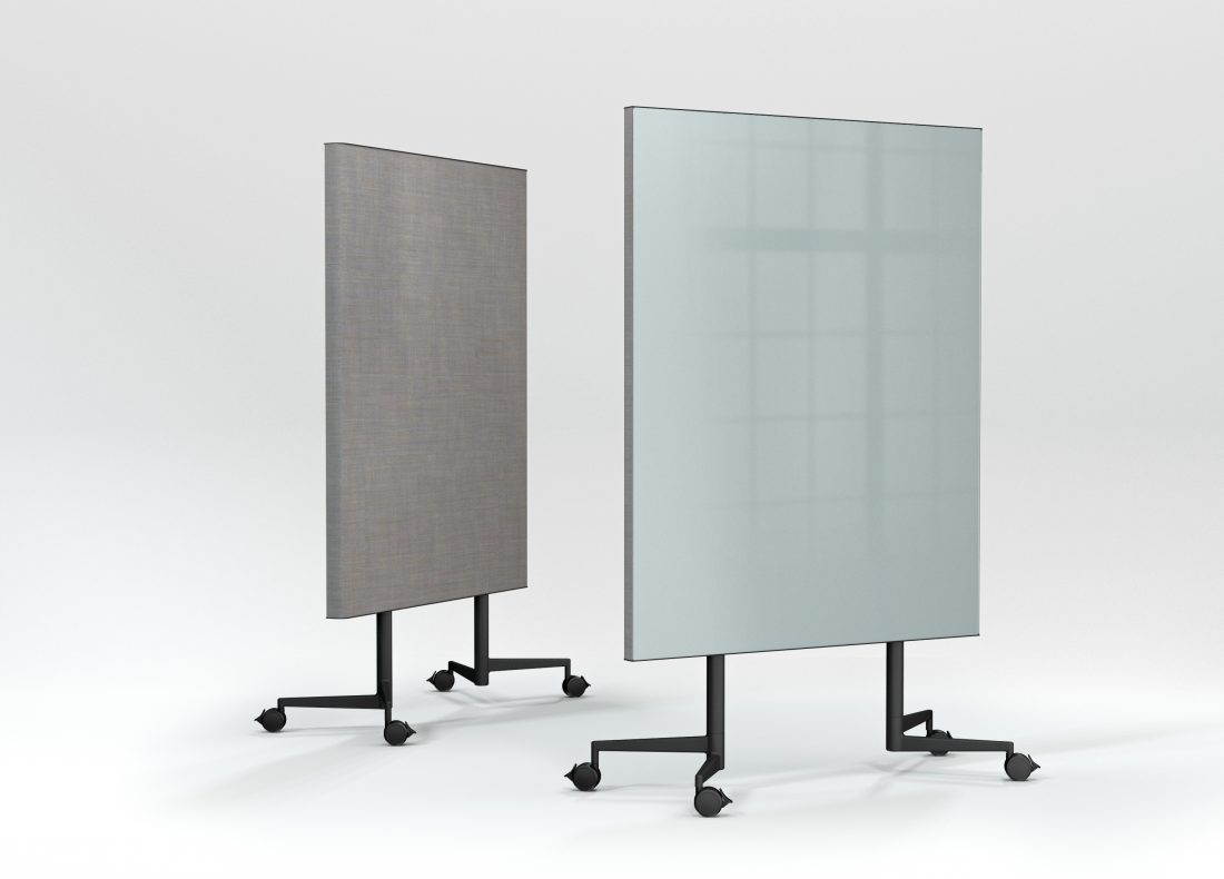 CHAT BOARD Move Acoustic front and back view in Sky Blue and Remix Screen in 0608