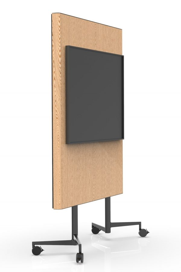 CHAT BOARD Move Acoustic oak veneer version with TV screen attached
