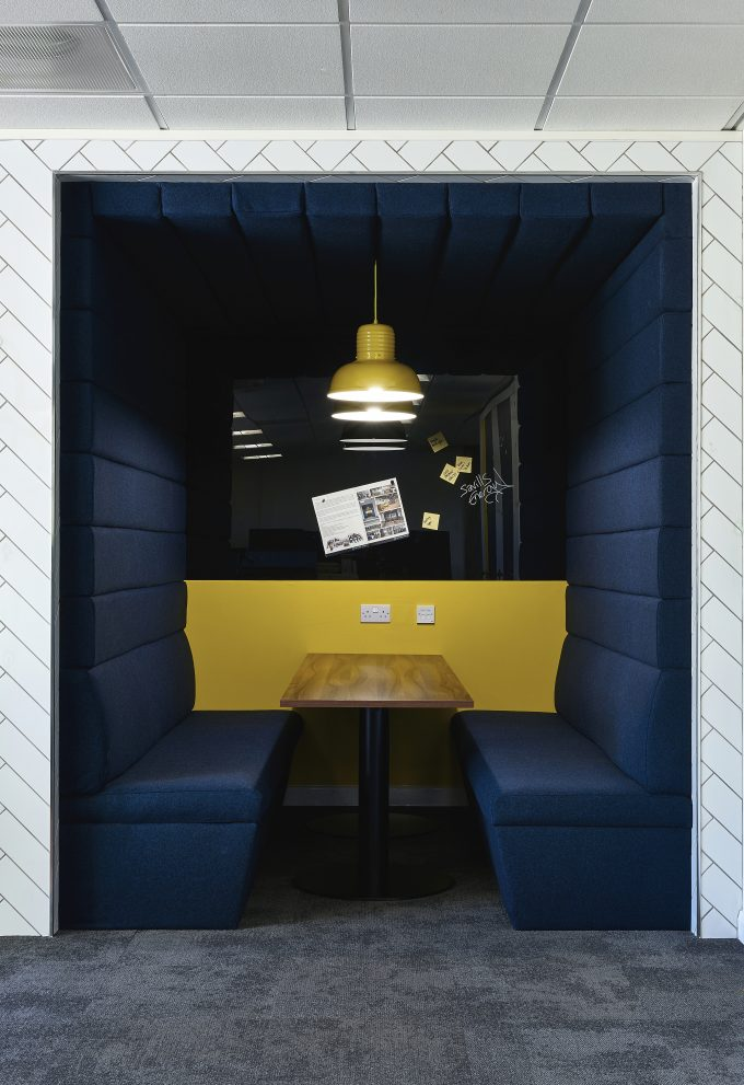 CHAT BOARD Classic in Black at Savills in Cardiff, designed by IMIUM