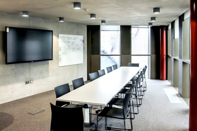 CHAT BOARD Classic in Pure White at UCC Hub, University College Cork designed by Interactive Interiors