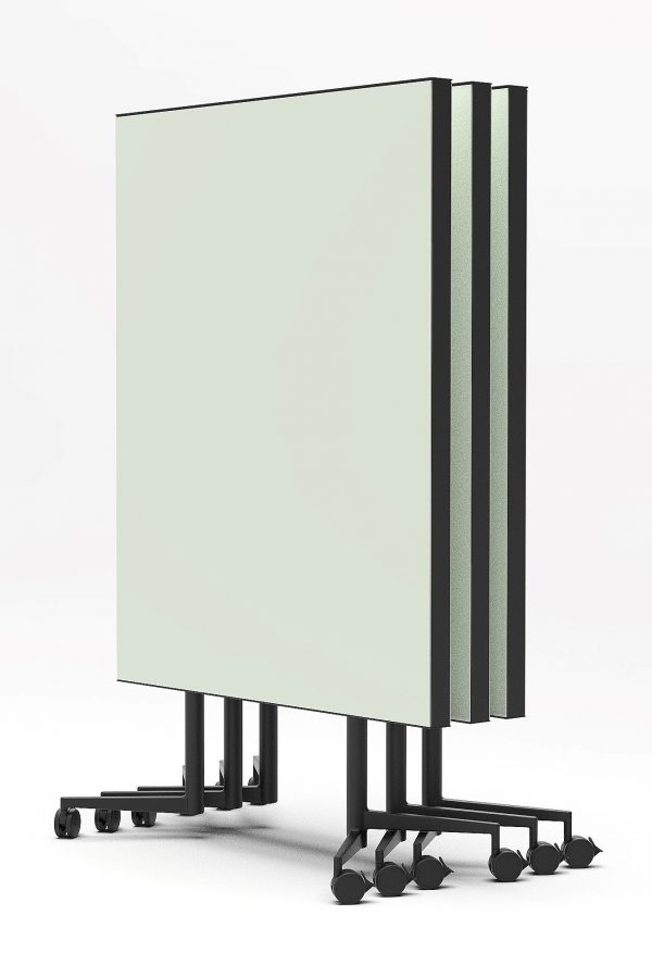 CHAT BOARD Move Acoustic with Khaki glass on both sides, three pieces stacked