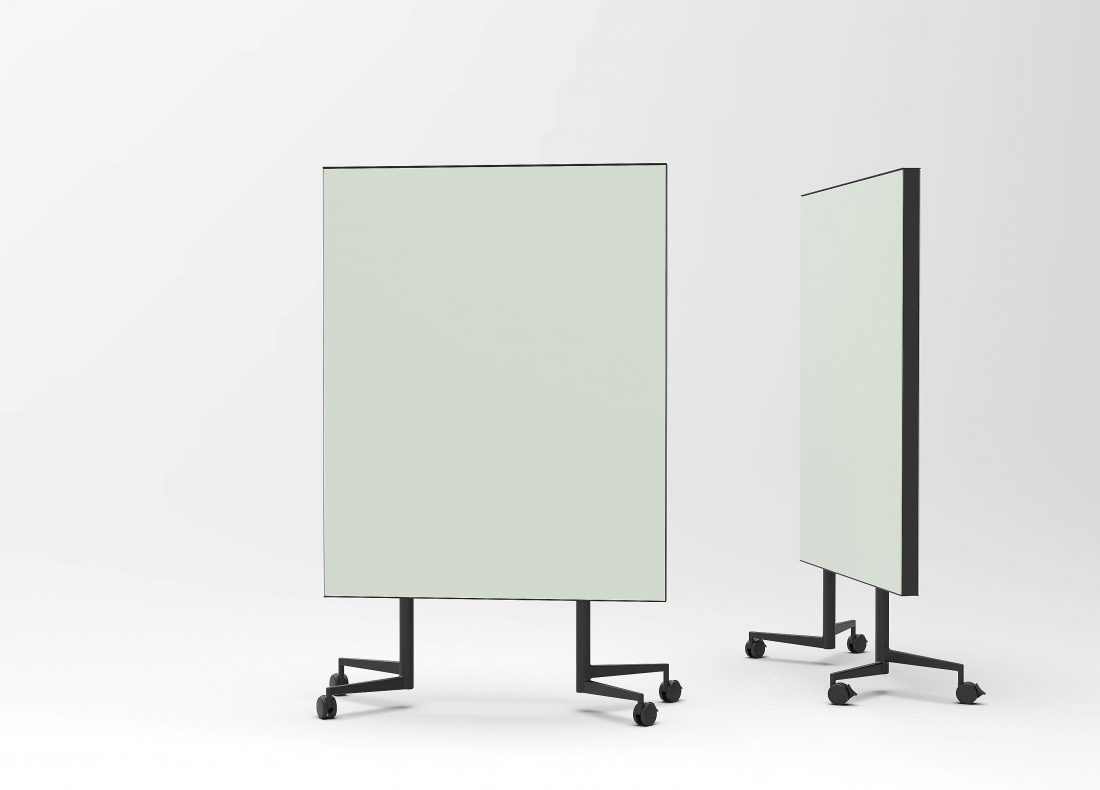CHAT BOARD Move Acoustic with Khaki glass on both sides - two pieces