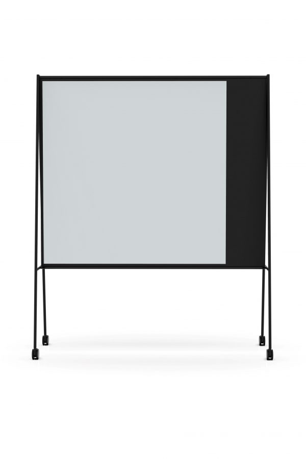 CHAT BOARD SQUAD Solid The Professor in black with Dove glass, frontal view - gallery image