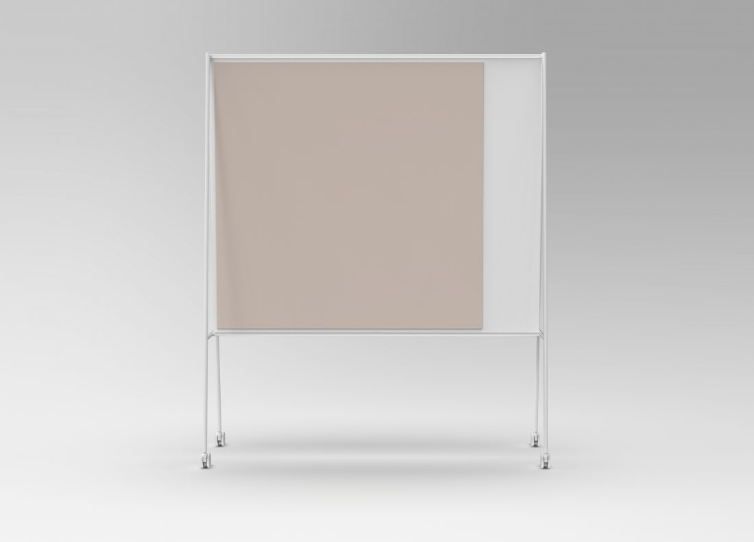 CHAT BOARD SQUAD Solid The Professor in white with glass in Blush, front view