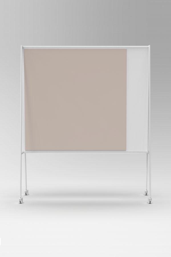 CHAT BOARD SQUAD Solid The Professor in white with glass in Blush, front view gallery image