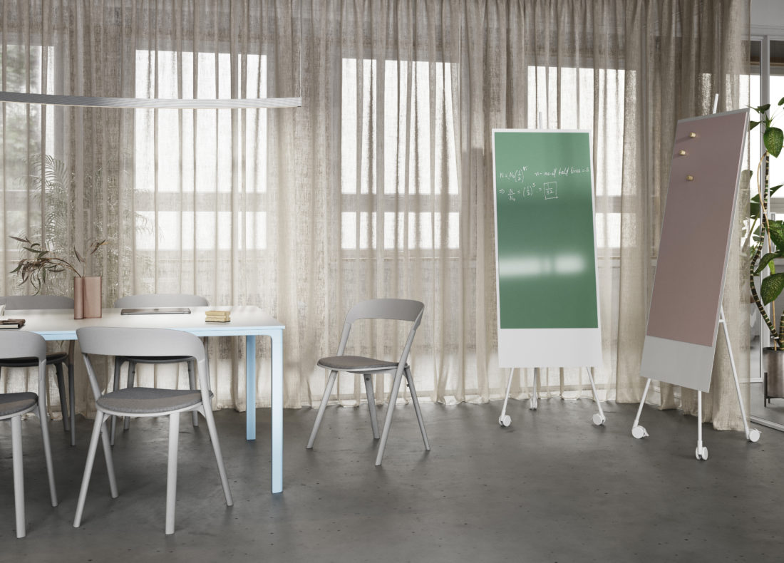 CHAT BOARD SQUAD Solid two Runner units in Pine and Petal, white frame