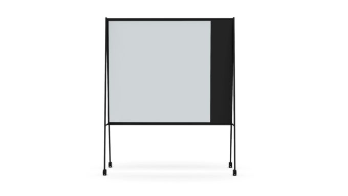 CHAT BOARD SQUAD Solid The Professor in black with Dove glass, frontal view