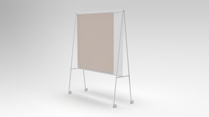 CHAT BOARD SQUAD Solid The Professor in white with glass in Blush perspective, gallery image