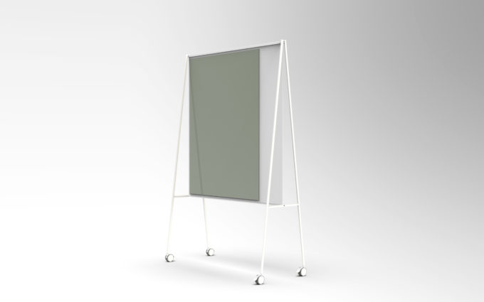 CHAT BOARD SQUAD Solid The Teacher, white with glass in Army Green