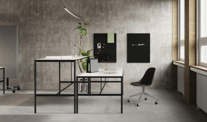 CHAT BOARD MIES Collab tables, both versions, with Classic