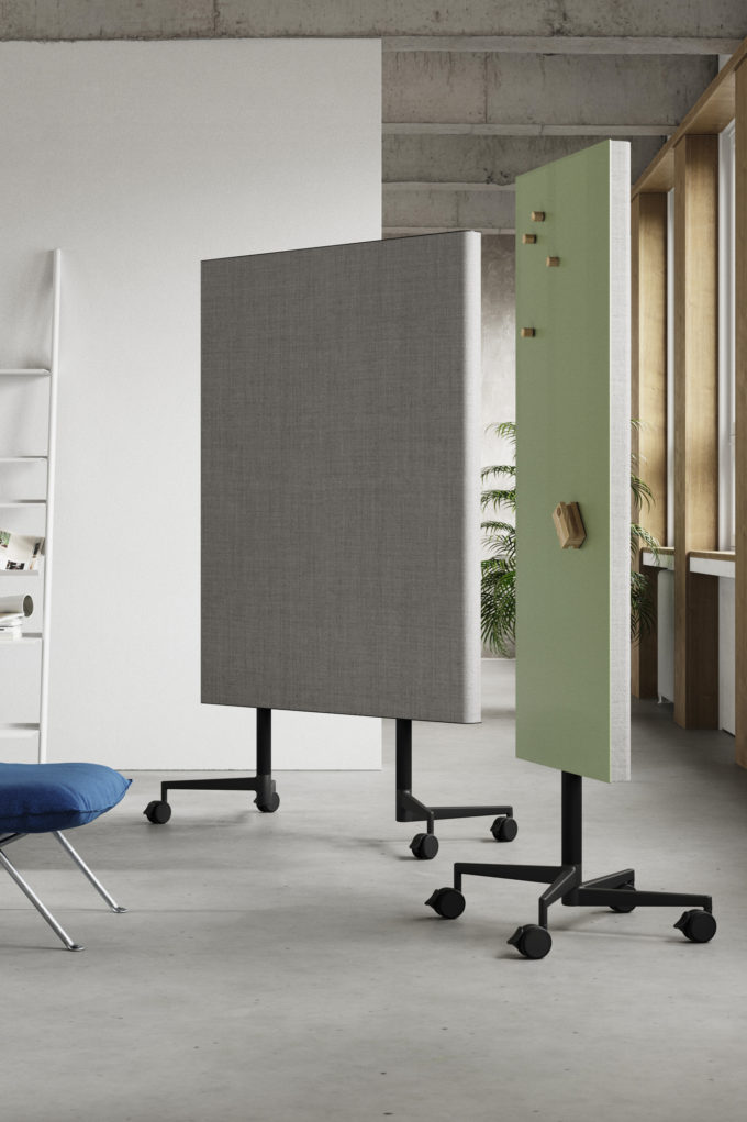 CHAT BOARD Move Acoustic room dividing, mobile boards with acoustic panel