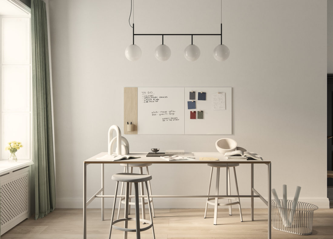 CHAT BOARD Classic Crafted with Classic in creative workspace setting
